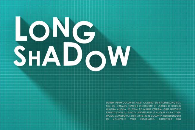 Photoshopの3D機能でロングシャドウエフェクトを簡単に作る方法