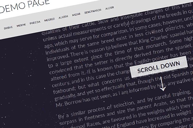 固定ヘッダーを簡単に実装可能なJavaScript「On Scroll Header Effects」
