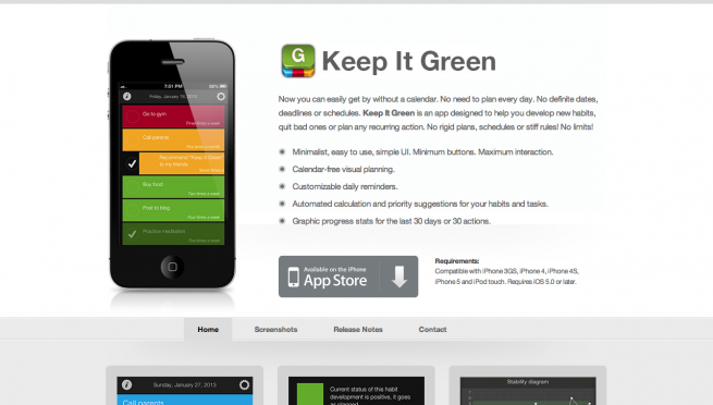 Keep It Green   Habit Maker for iPhone