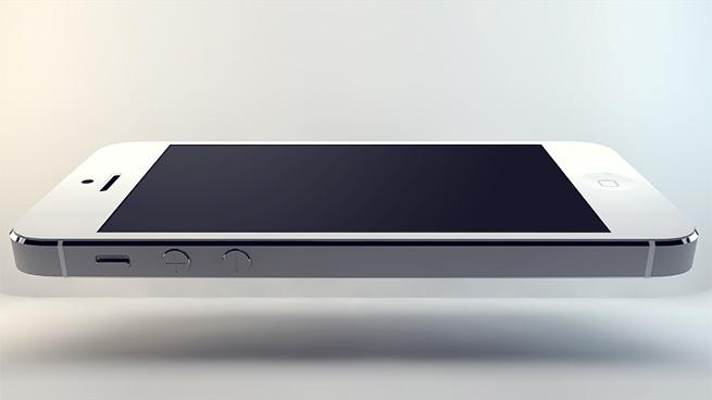 iPhone 5 Levitation Mockup PSD