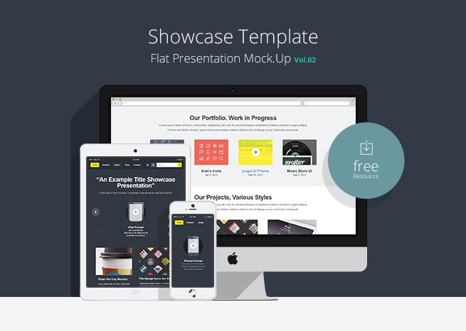 Flat Responsive Showcase Psd Vol2