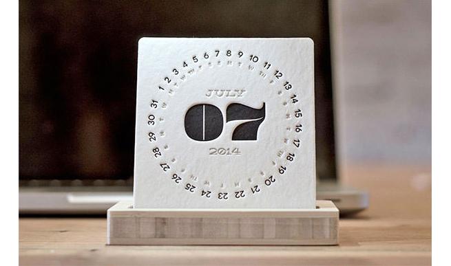 Letterpress Desk Calendar