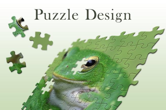 Photoshopでジグソーパズル風のデザインを作る方法