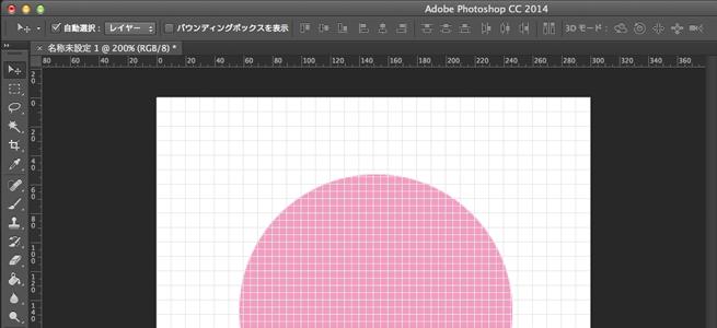 10pixelに設定すると下記の間隔でグリッド線が表示されます。