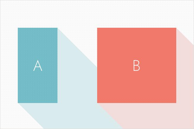 プログラミングの判定処理で困ったときの計算式「2つの四角形を比較してどちらが横長か」