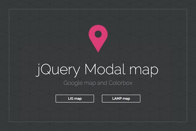 カッコよくカスタマイズされたグーグルマップをモーダル表示させてみよう