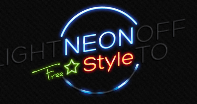 Psd Neon Text Effect Photoshop