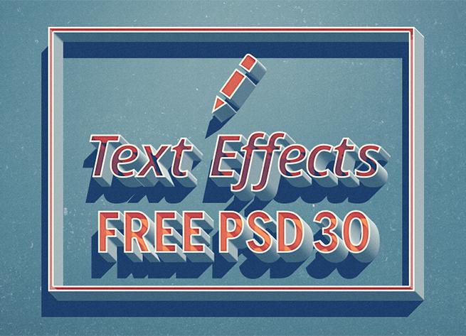 手の込んだテキストエフェクトが使えるフリー素材PSDファイルまとめ30選