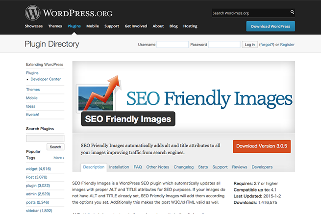 WordPress › SEO Friendly Images « WordPress Plugins