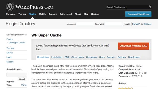 WordPress › WP Super Cache « WordPress Plugins