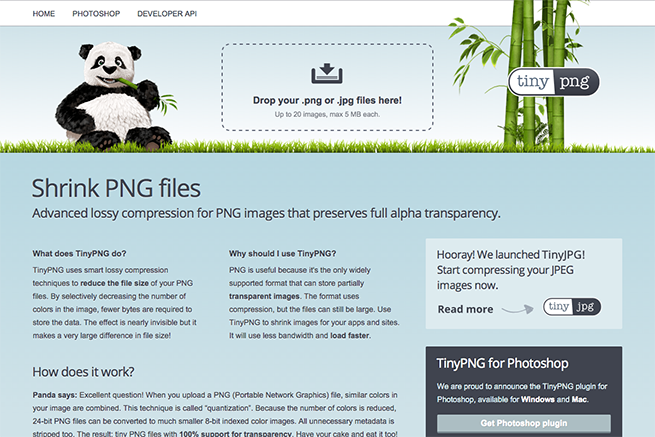 TinyPNG – Compress PNG images while preserving transparency