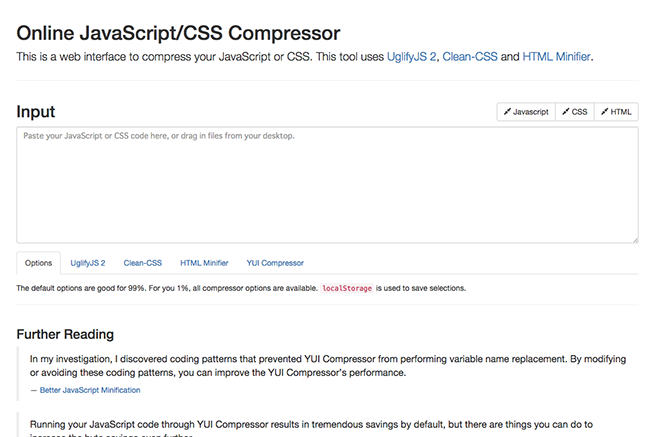 Refresh SF   Online JavaScript and CSS Compressor