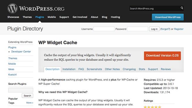 WordPress › WP Widget Cache « WordPress Plugins