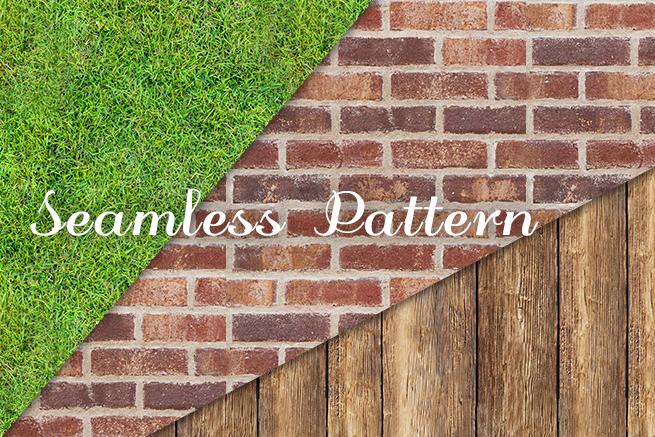 Photoshopで芝生やレンガの写真からシームレスなパターンテクスチャ素材を作る方法