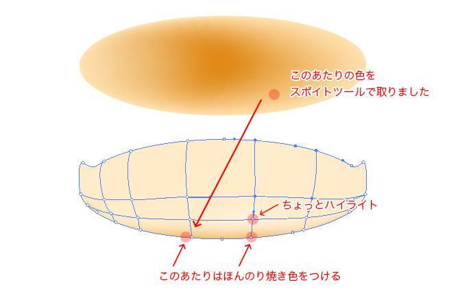 Illustratorのグラデーションメッシュ機能でパンケーキイラストを作成しよう | 株式会社LIG - No.4
