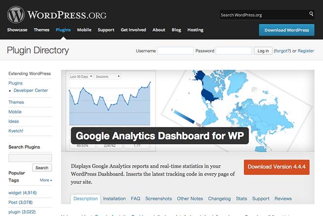 WordPress › Google Analytics Dashboard for WP « WordPress Plugins