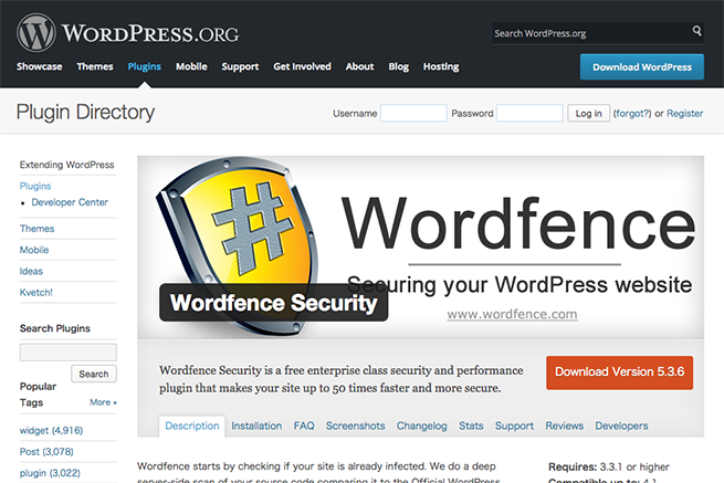 WordPress › Wordfence Security « WordPress Plugins