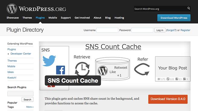 WordPress › SNS Count Cache « WordPress Plugins