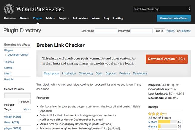 WordPress › Broken Link Checker « WordPress Plugins