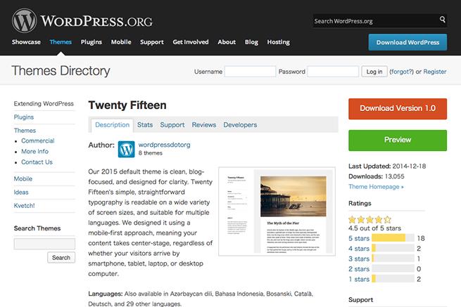 WordPress › Twenty Fifteen « Free WordPress Themes