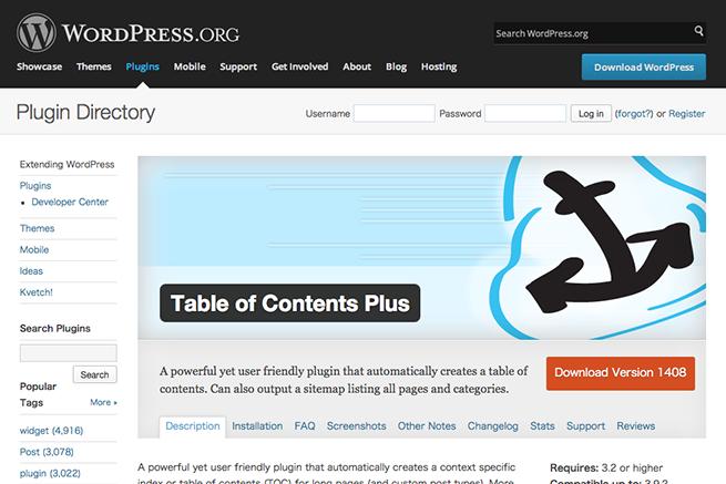 WordPress › Table of Contents Plus « WordPress Plugins
