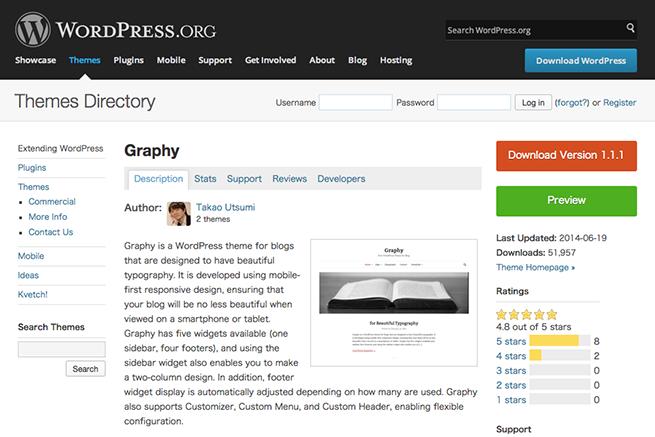 WordPress › Graphy « Free WordPress Themes