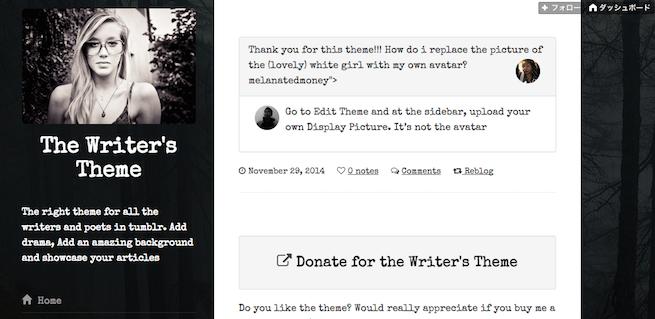 The Writer's Theme