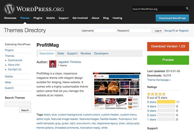 WordPress › ProfitMag « Free WordPress Themes