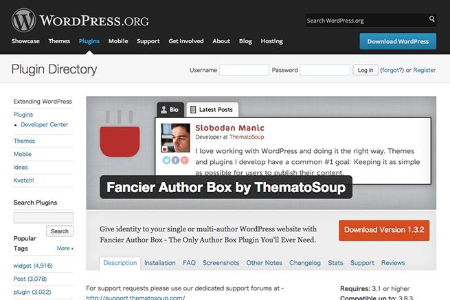 WordPress › Fancier Author Box by ThematoSoup « WordPress Plugins