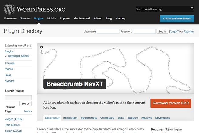 WordPress › Breadcrumb NavXT « WordPress Plugins