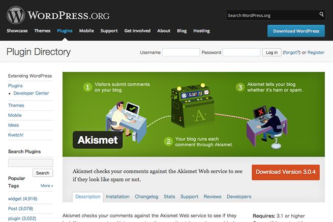 WordPress › Akismet « WordPress Plugins