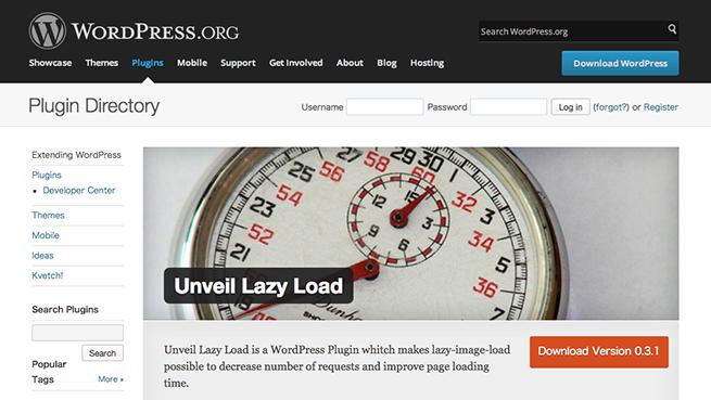 WordPress › Unveil Lazy Load « WordPress Plugins