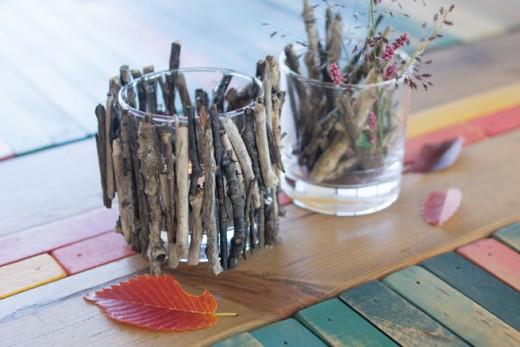 【DIY女子】秋にぴったりなキャンドルホルダーを野尻湖の木の枝で作ってみたのアイキャッチ