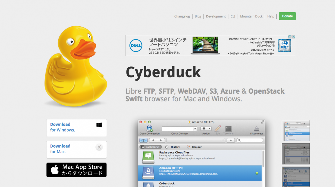 Cyberduck   Libre FTP  SFTP  WebDAV  S3   OpenStack Swift browser for Mac and Windows